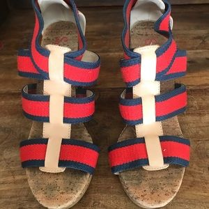 Cork wedge shoes